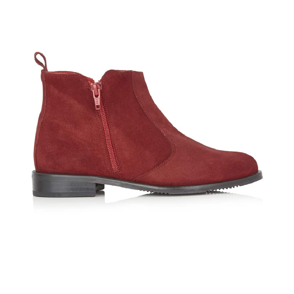ZETA – Red Suede Ankle Boot | Its Got Soul